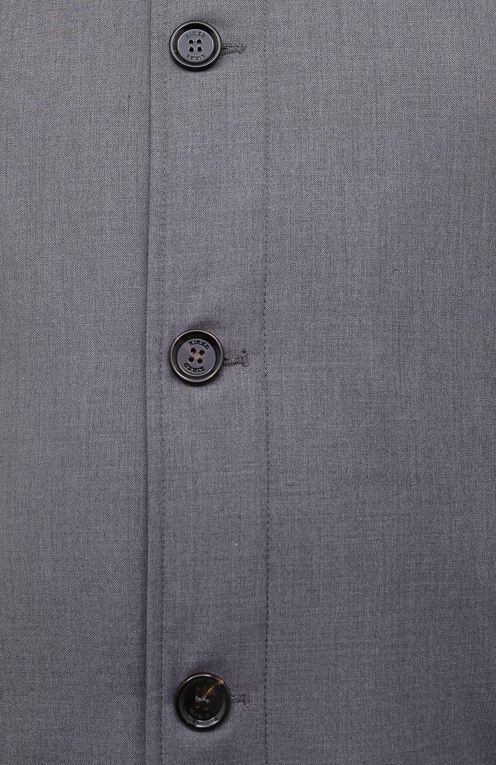 Мужской утепленный плащ KIRED серого цвета, арт. WP0RDW7200001001/62-72 | Фото 5