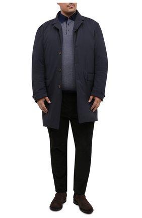 Мужской утепленный плащ KIRED темно-синего цвета, арт. WPELM0LW6806523000/62-72 | Фото 2