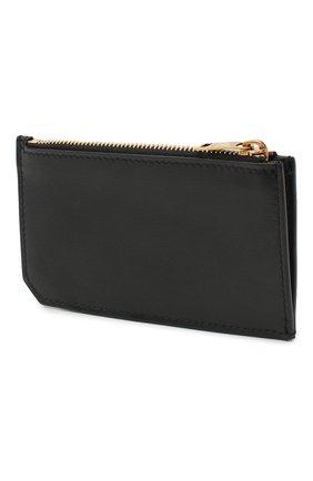 Мужской кожаный футляр для кредитных карт SAINT LAURENT черного цвета, арт. 629899/02G0W | Фото 2
