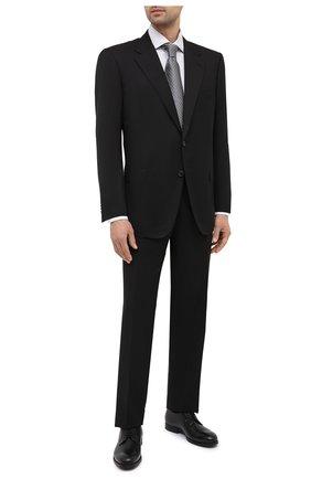Мужской шерстяной костюм CORNELIANI черного цвета, арт. 867315C0818150/92 Q1 | Фото 1 (Материал подклада: Купро; Материал внешний: Шерсть; Рукава: Длинные; Стили: Классический; Костюмы М: Однобортный)
