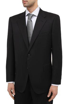 Мужской шерстяной костюм CORNELIANI черного цвета, арт. 867315C0818150/92 Q1 | Фото 2 (Материал подклада: Купро; Материал внешний: Шерсть; Рукава: Длинные; Стили: Классический; Костюмы М: Однобортный)