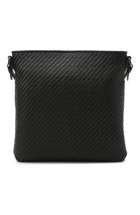 Мужская кожаная сумка ERMENEGILDO ZEGNA черного цвета, арт. C1261P-LHPTA   Фото 1