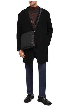 Мужская кожаная сумка ERMENEGILDO ZEGNA черного цвета, арт. C1261P-LHPTA   Фото 2