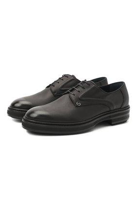 Мужские кожаные дерби ZILLI черного цвета, арт. MDS-A071/007 | Фото 1
