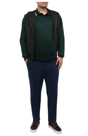 Мужское хлопковое поло PAUL&SHARK зеленого цвета, арт. A20P1751/C00/3XL-6XL   Фото 2