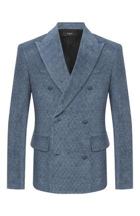 Мужской пиджак AMIRI бирюзового цвета, арт. W0M12270FJ | Фото 1