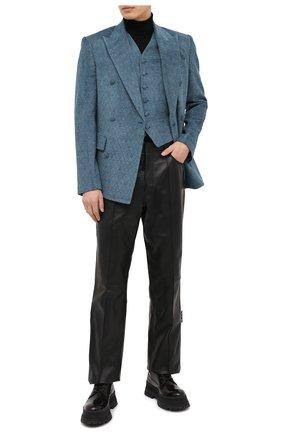 Мужской пиджак AMIRI бирюзового цвета, арт. W0M12270FJ | Фото 2