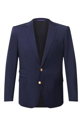 Мужской шерстяной пиджак RALPH LAUREN темно-синего цвета, арт. 798765811 | Фото 1