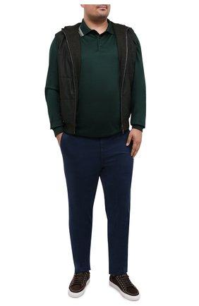 Мужской жилет из шерсти и шелка LUCIANO BARBERA темно-зеленого цвета, арт. 109L98/52218/58-62 | Фото 2