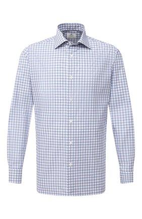 Мужская хлопковая сорочка LUIGI BORRELLI голубого цвета, арт. EV08/LUCIAN0/TS30112 | Фото 1