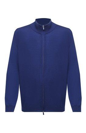 Мужской шерстяной кардиган SVEVO синего цвета, арт. 0918/9XSA20/MP09 | Фото 1