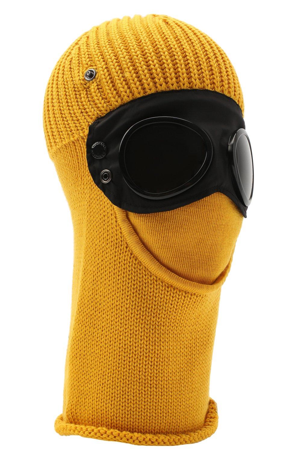 Мужская шерстяная шапка-балаклава C.P. COMPANY желтого цвета, арт. 09CMAC238A-005509A | Фото 1