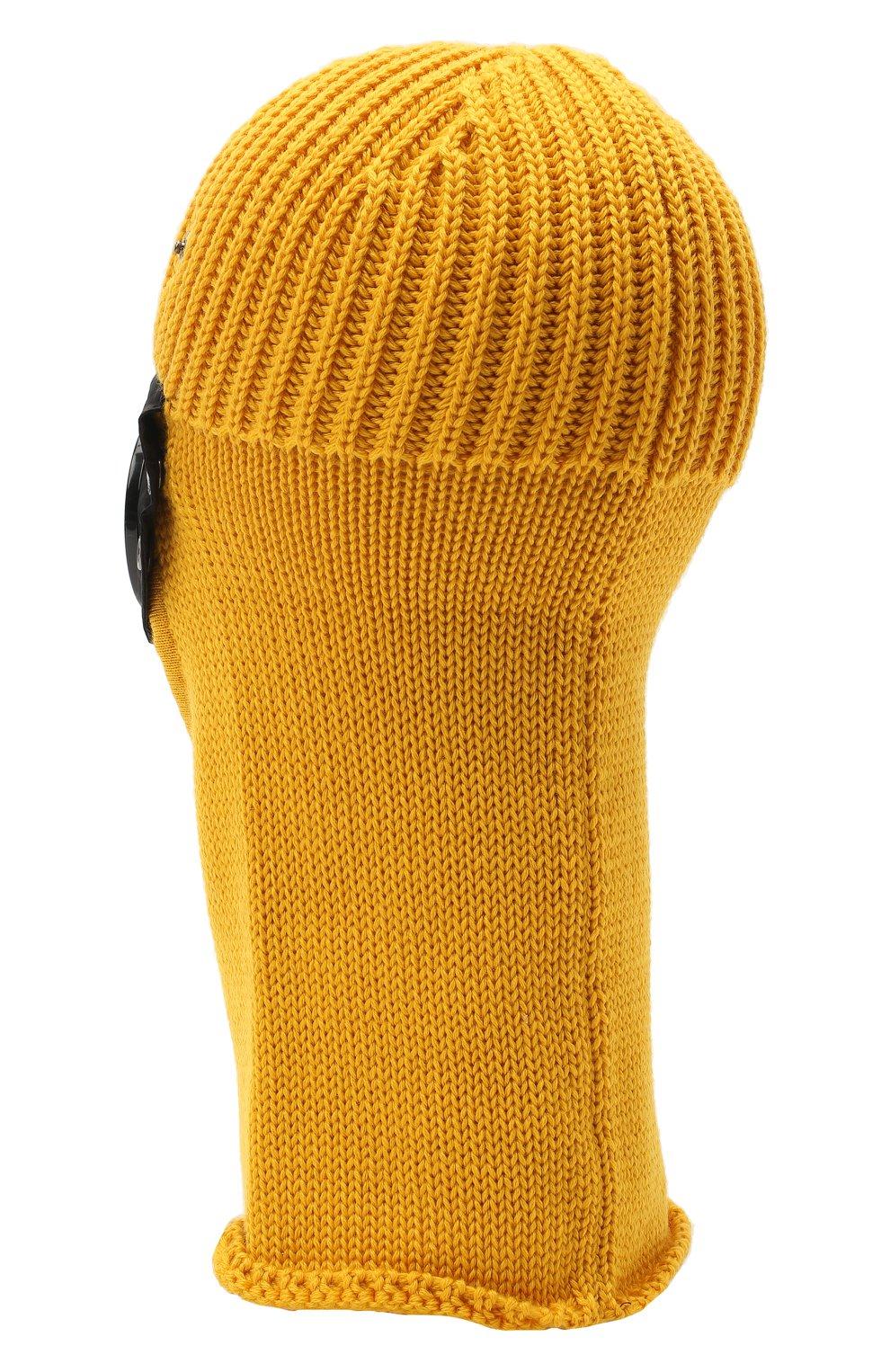Мужская шерстяная шапка-балаклава C.P. COMPANY желтого цвета, арт. 09CMAC238A-005509A | Фото 2