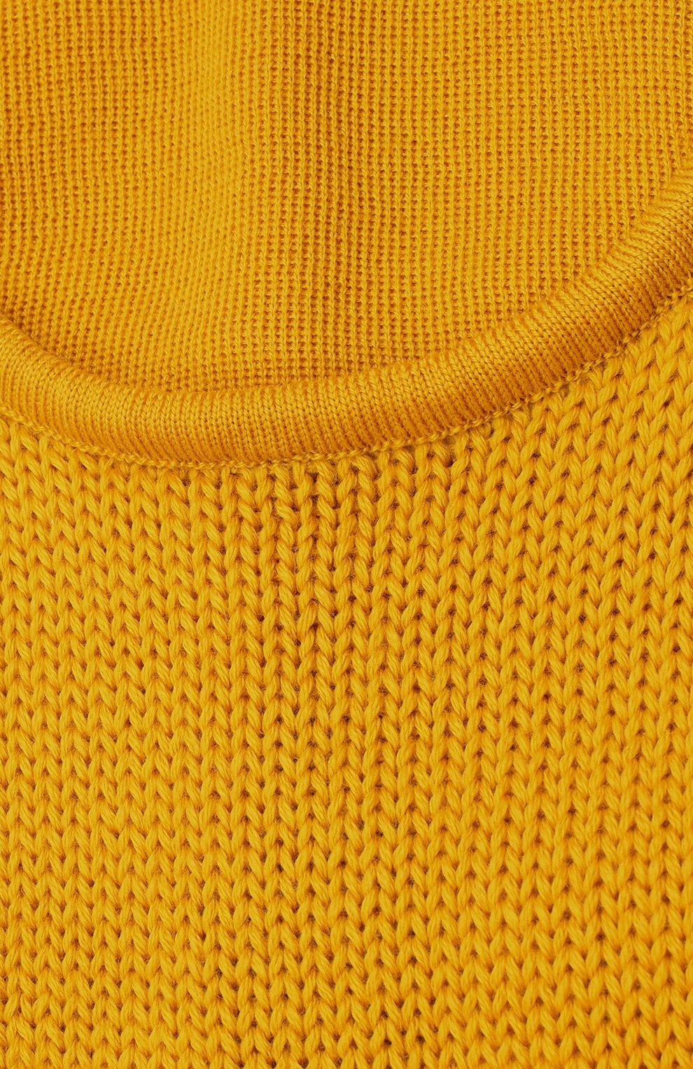 Мужская шерстяная шапка-балаклава C.P. COMPANY желтого цвета, арт. 09CMAC238A-005509A | Фото 3