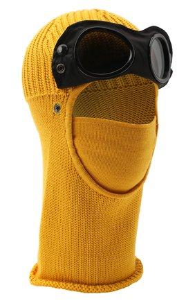 Мужская шерстяная шапка-балаклава C.P. COMPANY желтого цвета, арт. 09CMAC238A-005509A | Фото 4