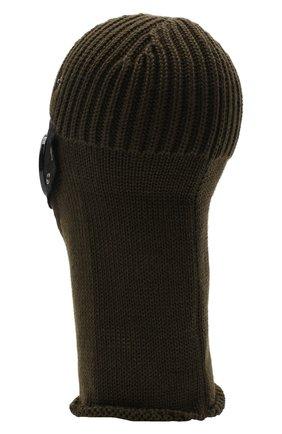 Мужская шерстяная шапка-балаклава C.P. COMPANY хаки цвета, арт. 09CMAC238A-005509A | Фото 2