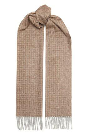 Мужской шарф из шелка и кашемира CANALI бежевого цвета, арт. 06/TX00176 | Фото 1
