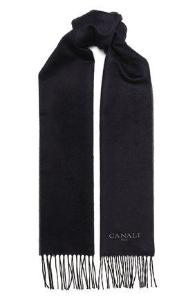 Мужской шарф из шелка и кашемира CANALI темно-синего цвета, арт. 06/TX00179 | Фото 1