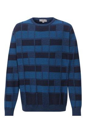 Мужской шерстяной джемпер CANALI синего цвета, арт. C0012B/MK00986 | Фото 1