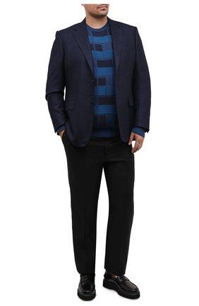 Мужской шерстяной джемпер CANALI синего цвета, арт. C0012B/MK00986   Фото 2
