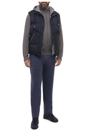 Мужской шерстяные брюки CANALI голубого цвета, арт. C0759B/MK00982 | Фото 2