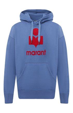 Мужской хлопковое худи ISABEL MARANT синего цвета, арт. SW0055-20A033H/MILEY | Фото 1