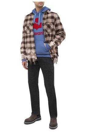 Мужской хлопковое худи ISABEL MARANT синего цвета, арт. SW0055-20A033H/MILEY   Фото 2