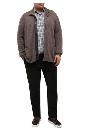Мужской кашемировый кардиган BRIONI коричневого цвета, арт. UMHL0L/09K14 | Фото 2