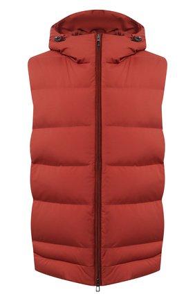 Мужской пуховый жилет LORO PIANA красного цвета, арт. FAL4281 | Фото 1