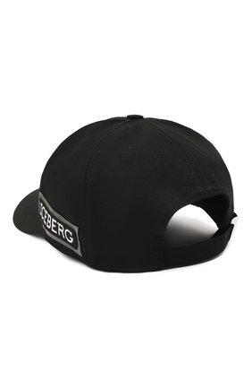 Мужской хлопковая бейсболка ICEBERG черного цвета, арт. 20I I1P1/7104/6920 | Фото 2