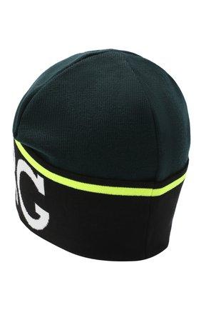 Мужская шапка из хлопка и шерсти ICEBERG темно-зеленого цвета, арт. 20I I1P1/3041/7010 | Фото 2