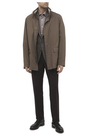 Мужская хлопковая рубашка KITON коричневого цвета, арт. UMCNERCH0749108 | Фото 2