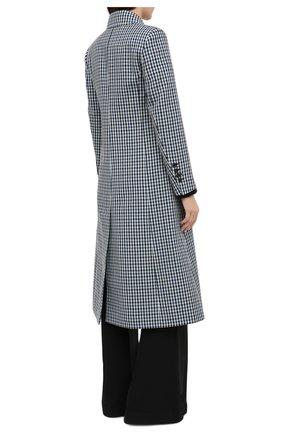 Женское шерстяное пальто LANVIN синего цвета, арт. RW-C0100T-4586-A20 | Фото 5 (Материал внешний: Шерсть; Рукава: Длинные; Стили: Классический; Длина (верхняя одежда): Длинные; 1-2-бортные: Однобортные; Материал подклада: Вискоза)