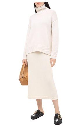 Женский кашемировый свитер FTC белого цвета, арт. 800-0160 | Фото 2