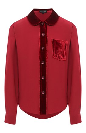Женская шелковая блузка GIORGIO ARMANI красного цвета, арт. 0WHCCZ41/TZ493 | Фото 1