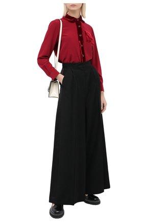 Женская шелковая блузка GIORGIO ARMANI красного цвета, арт. 0WHCCZ41/TZ493 | Фото 2