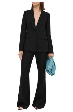 Женские льняные брюки GABRIELA HEARST черного цвета, арт. 420209 LI014 | Фото 2