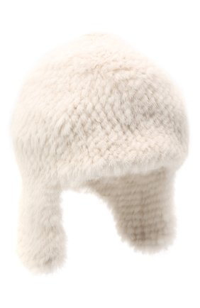 Женская шапка из меха норки KUSSENKOVV светло-бежевого цвета, арт. 91250012433 | Фото 1