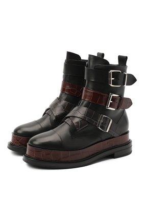 Женские кожаные ботинки CASADEI черного цвета, арт. 1R195R0201C0933A696   Фото 1