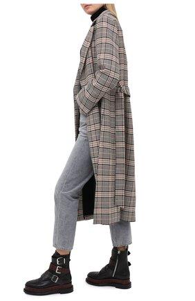 Женские кожаные ботинки CASADEI черного цвета, арт. 1R195R0201C0933A696   Фото 2