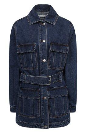 Женская джинсовая куртка MSGM синего цвета, арт. 2941MDH49L 207729   Фото 1