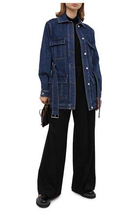 Женская джинсовая куртка MSGM синего цвета, арт. 2941MDH49L 207729   Фото 2