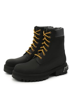 Женские кожаные ботинки VETEMENTS черного цвета, арт. UAH21B0240 2453/W | Фото 1