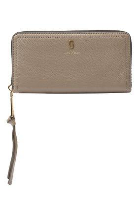 Женские кожаный кошелек MARC JACOBS (THE) серого цвета, арт. M0015119 | Фото 1