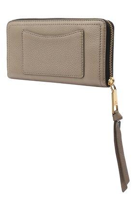 Женские кожаный кошелек MARC JACOBS (THE) серого цвета, арт. M0015119 | Фото 2