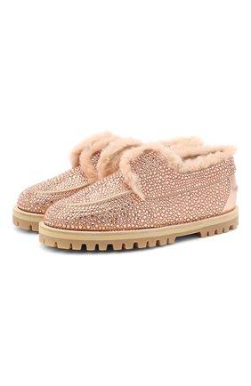 Женские кожаные ботинки LE SILLA розового цвета, арт. 6188R020M1LLBUR | Фото 1