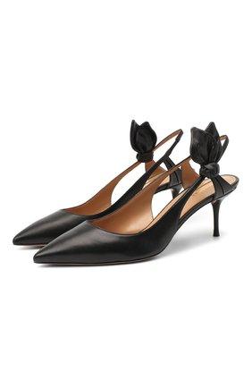 Женские кожаные туфли drew 60 AQUAZZURA черного цвета, арт. DRWMIDP0-NAP-000 | Фото 1
