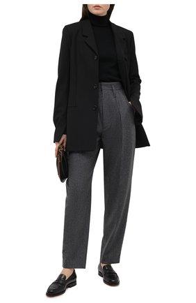 Женские шерстяные брюки ISABEL MARANT темно-серого цвета, арт. PA1823-20H026I/RAC0MISL | Фото 2