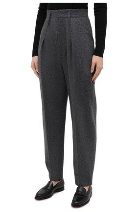 Женские шерстяные брюки ISABEL MARANT темно-серого цвета, арт. PA1823-20H026I/RAC0MISL | Фото 3