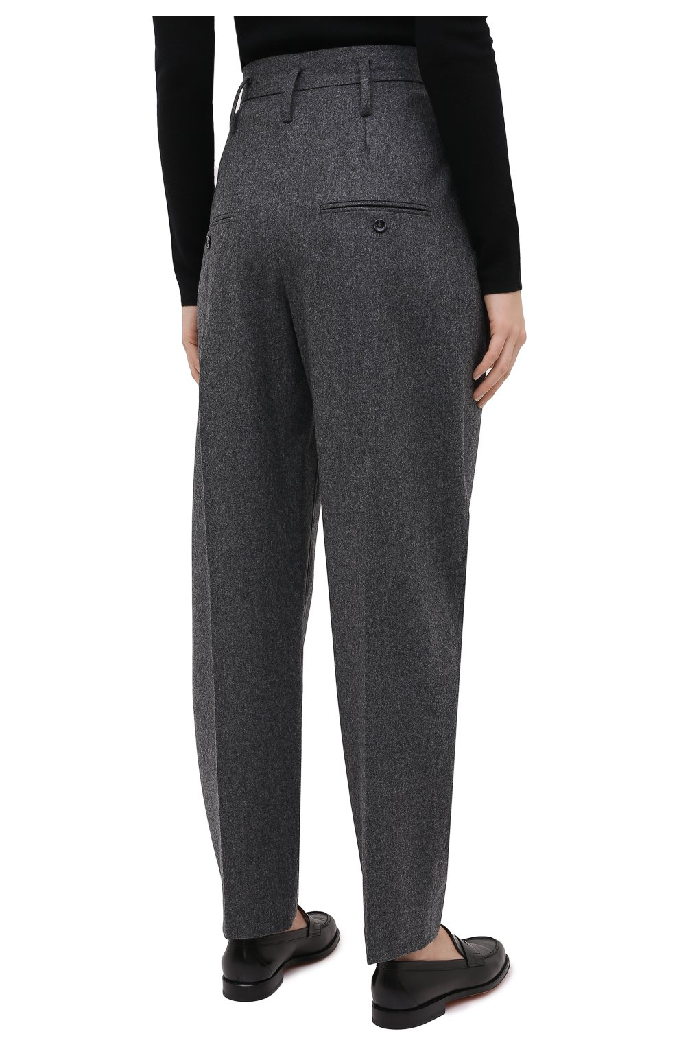 Женские шерстяные брюки ISABEL MARANT темно-серого цвета, арт. PA1823-20H026I/RAC0MISL | Фото 4